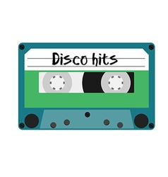 Cassette disco hits vector image vector image