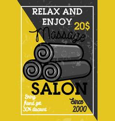 color vintage massage salon banner vector image