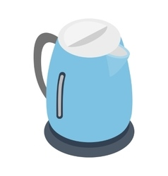 Electric kettle icon isometric 3d style vector image