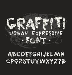 handwritten brush font with shabby texture vector image