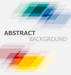 abstract colourful geometric overlapping vector image vector image
