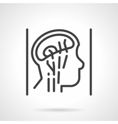 Head anatomy simple line icon vector image