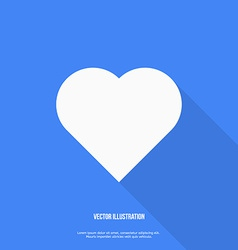 Heart web icon Flat design vector image vector image