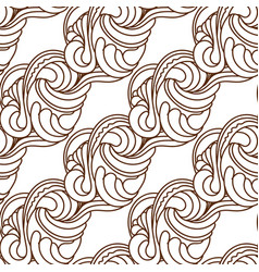 Monochrome abstract seamless pattern in black vector