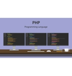 Php programming language code vector