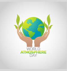 world atmosphere day logo icon design vector image