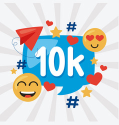 10k followers icons vector