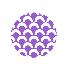 abstract circle background icon design template vector image