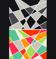 Abstract geometrical backgrounds vector