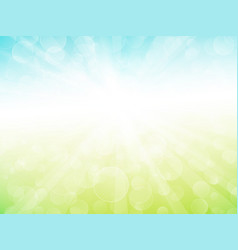 abstract green blue sky ray background vector image