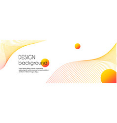 Abstract long banner with wavy lines vector
