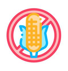 allergen free sign corn thin line icon vector image