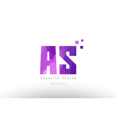 as a s pink alphabet letter logo combination with vector image
