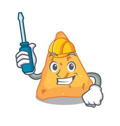 Automotive nachos mascot cartoon style vector