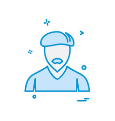 avatar icon design vector image