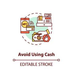 Avoid using cash concept icon vector