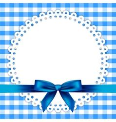 blue napkin frame vector image