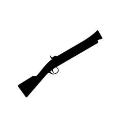 Blunderbuss firearm with short large caliber vector