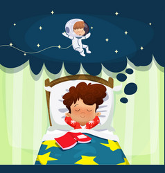boy dreaming about future profession vector image