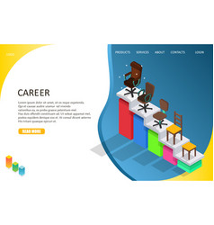 Business career landing page website template vector
