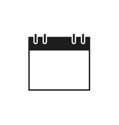 calendar of date black icon vector image
