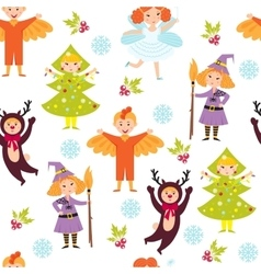 Carnival kids seamless pattern vector image