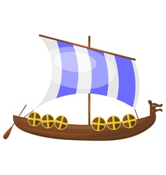 Cartoon Viking ship eps10 vector