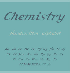 chemistry handwritten alphabet vector image