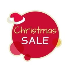Christmas Sale Icon in Flat Design vector image
