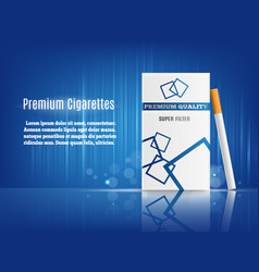 Cigarettes advertisement realistic composition vector