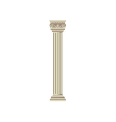 classic marble antique white column vector image