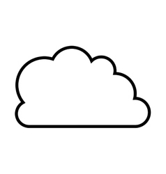 Cloud shape icon vector