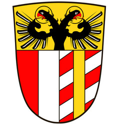 Coat of arms of swabia in bavaria germany vector