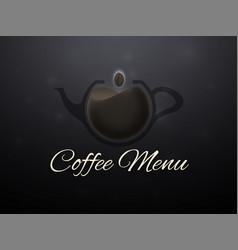 coffee horizontal banner vector image