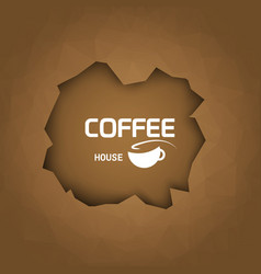 Coffee house background coffee cup trendy style vector