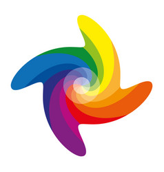 Color pinwheel or color circle with twelve colors vector