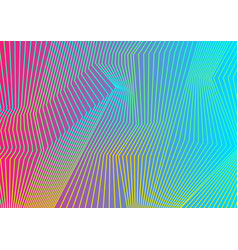 Colorful curved lines pattern design vector