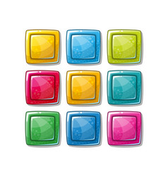 colorful glossy shapes icons set isolated vector image
