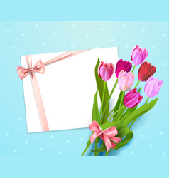 colorful tulips card vector image