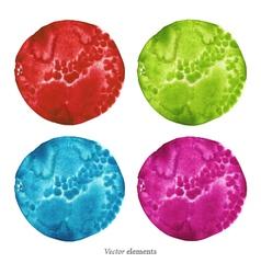 Colorful watercolor circles eps 8 vector image