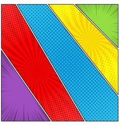 comic diagonal dynamic template vector image