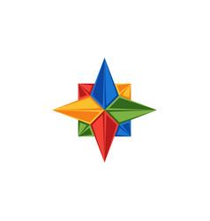 Compass logo rose wind emblem directions vector