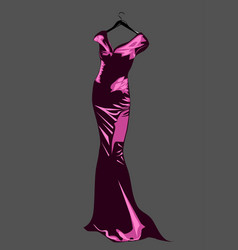Couture dress vector