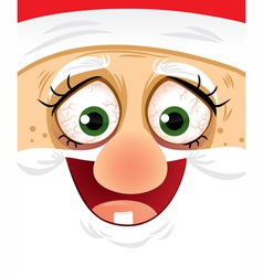 Crazy eyes santa - cartoon vector