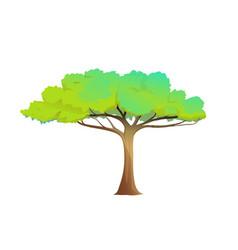 Cute cartoon african tree clipart vector