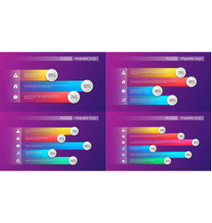 easy editable 3 4 5 6 options infographic vector image