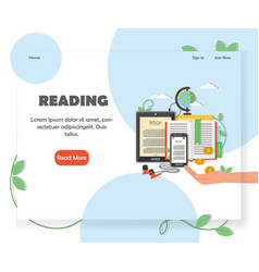 educational website home page design vector image