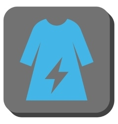 Electricity female dress rounded square button vector