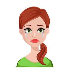 face expressions of cleaner woman vector image