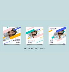 fashion social media post promotion vector image